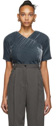 Situationist Grey Silk Velvet Blouse