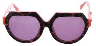 Karen Walker Fight On Oversize Sunglasses