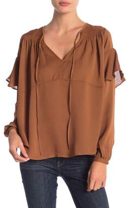 Line & Dot Philipa Ruffle Sleeve Blouse