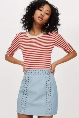 Topshop Star Stud Mini Skirt