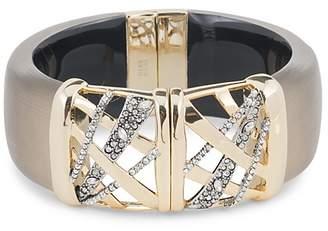 Alexis Bittar Crystal Embellished Crosshatch Cuff Bracelet