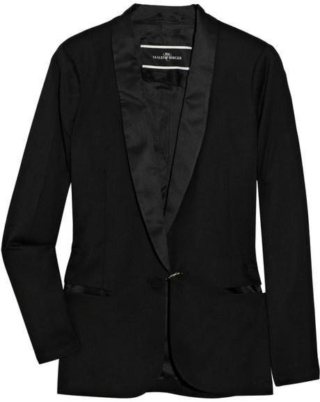 By Malene Birger Azemina crepe and satin tuxedo jacket