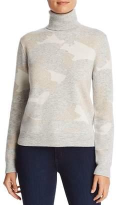 Majestic Filatures Camo Print Turtleneck Sweater