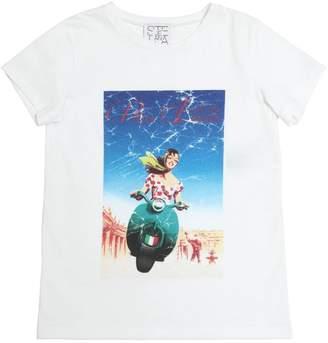 Stella Jean Viva Italia Printed Cotton T-Shirt