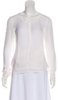 A.L.C. Silk Knit-Trimmed Blouse