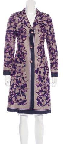CelineCéline Silk Floral Print Coat
