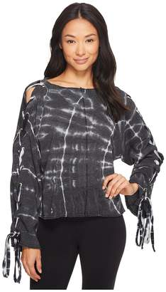 Hard Tail Slouchy Crop Lace Flare Pullover Women's Clothing