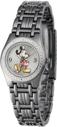 DISNEY Disney Womens Black Alloy Strap Mickey Mouse Bracelet Watch $99.99 thestylecure.com