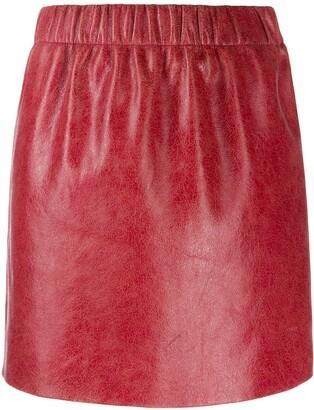 Miu Miu cracked effect mini skirt