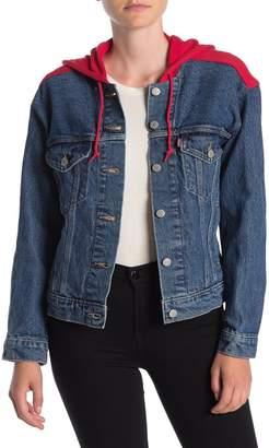 Levi's Ex-Boyfriend Knit Hood Trucker Jacket