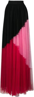Fausto Puglisi tulle colourblock maxi skirt