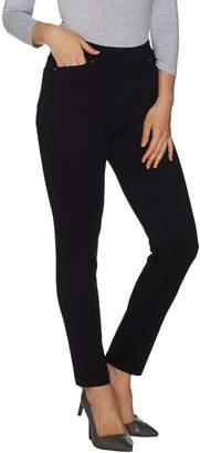 Susan Graver Regular Pull-On Knit Twill Slim Leg Ankle Pants