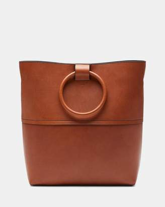 Theory Large Hoop Tote With Hoop in Leather