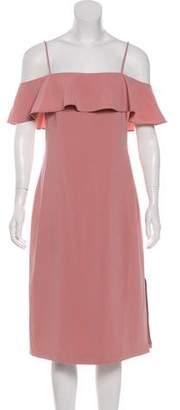 Theory Cold-Shoulder Midi Dress