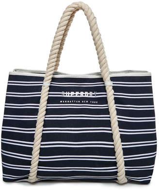 Superdry Bayshore Stripe Beach Tote Bag