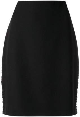 Frankie Morello stud detail fitted skirt