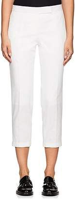 Thom Browne WOMEN'S SIDE-STRIPED SEERSUCKER SKINNY TROUSERS