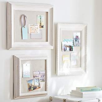 Pottery Barn Teen Wooden Eclectic Framed Pinboards, Set of 3, Distressed White