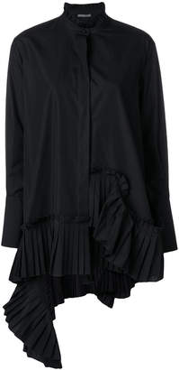 Alexander McQueen pleated asymmetric blouse