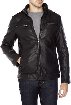 X-Ray X Ray Faux Leather Textured Moto Jacket