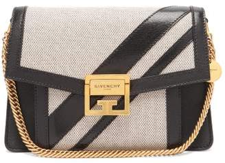 22bab00f08b1 Givenchy Gv3 Small Canvas And Leather Cross Body Bag - Womens - Black White
