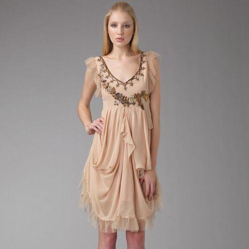 Galliano Chiffon Drape Dress