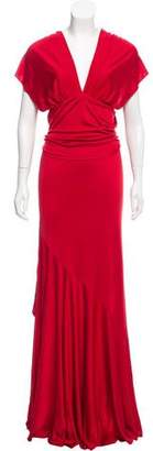 Amanda Wakeley Terracotta Silk Maxi Dress