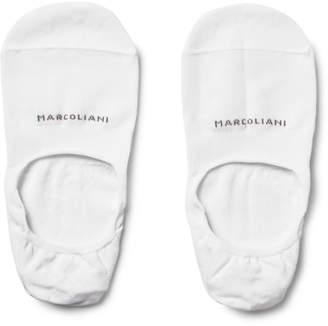 Marcoliani Invisible Touch Pima Cotton-Blend No-Show Socks $21 thestylecure.com