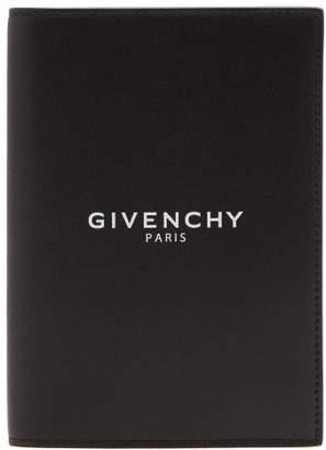 Givenchy Logo Debossed Leather Passport Holder - Mens - Black