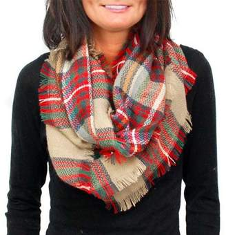 Plaid Infinity Blanket Scarf by Endless Envy