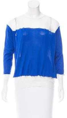 Stella McCartney Silk mesh-Trimmed Sweater