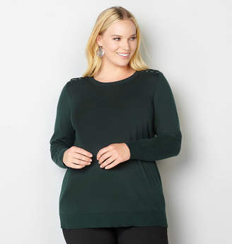 Avenue Ribbon Lace-Up Pullover