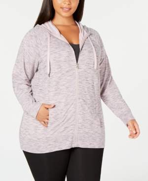 Ideology Plus Size Space-Dyed Hoodie, Created for Macy's