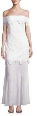 Self-Portrait Lace Off-The-Shoulder Gown