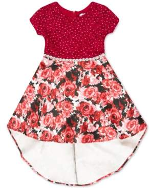 Speechless Toddler Girls Glitter-Lace High-Low Dress