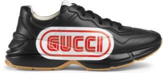 Gucci Rhyton print leather sneaker
