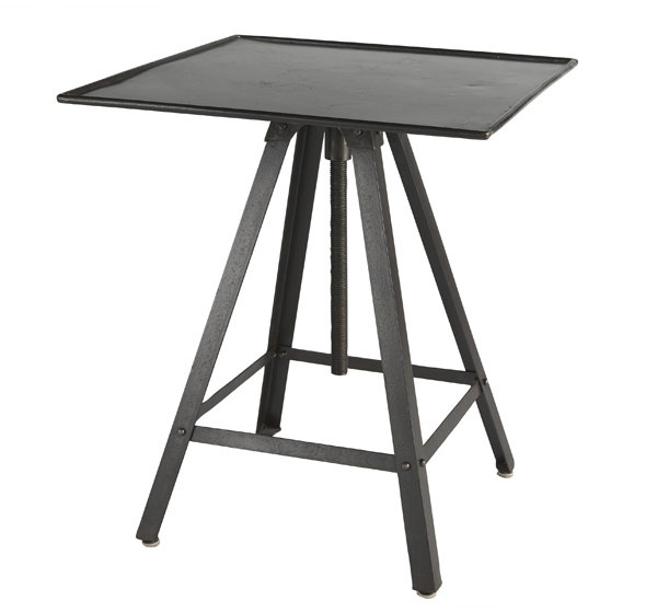 French Industrial End Table