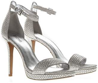 b7928c6c0b91 MICHAEL Michael Kors Hutton Silver Stoned Sandals