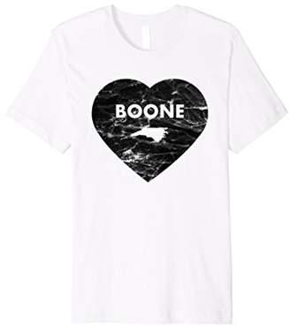Boone North Carolina Heart Distressed Retro T-shirt
