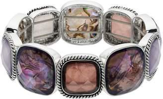 Dana Buchman Purple Simulated Abalone Stretch Bracelet