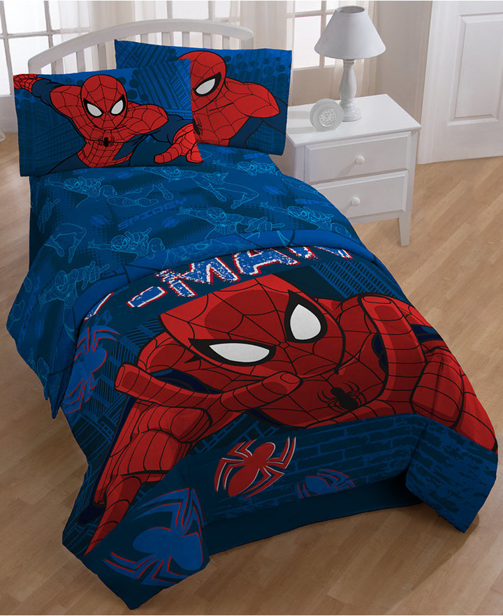Spiderman Graphic Twin Sheet Set Bedding