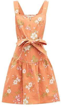 Rebecca Taylor Lita Floral Print Cotton Dress - Womens - Coral