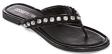 Dakota Cosmopolitan Rhinestone Thong Sandals