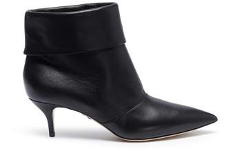Paul Andrew 'Banner' foldover leather ankle boots