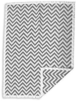 Living Textiles THE Chevron Jacquard Cotton Muslin Blanket