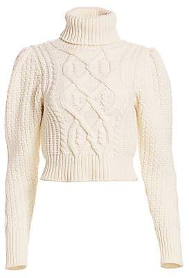 Wandering Women's Open-Back Cropped Turtleneck Sweater
