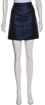 Richard Nicoll Metallic Mini Skirt