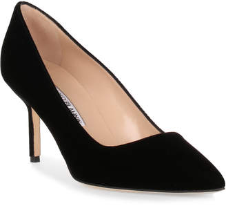 Manolo Blahnik BB70 black velvet pump