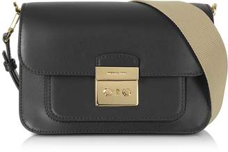 Michael Kors Sloan Editor Large Black Leather Shoulder Bag