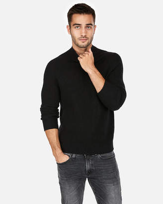 Express Mock Neck Wool-Blend Popover Sweater